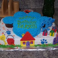 Blues Clues Cake Inspired by a CC friend! This was for my son's 3rd bday ~ all blues friends are colorflow.