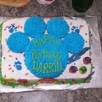 Blues Clues Birthday Closeup A top view of the same cake.