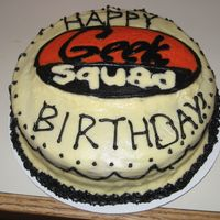 Geek Squad Cake A birthday cake I made for my boyfriend, a member of the Geek Squad.