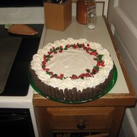 Eggnog Mousse Cake This is the most fantastic mousse cake! Unfortunately we made it in a 10 inch springform pan instead of 9inch so it was a little short. Oh...
