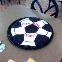 Soccer Ball This is a pull-a-part cupcake soccer ball. I put it on a black plate so you have to look close to see the outline of the cupcakes....