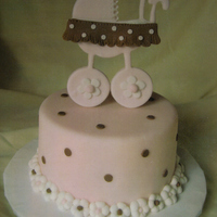 Classical Pram Cake Topper made out of gum paste using a set of cutters. Very versatile because you can use the same figure lying down flat on a cake or...