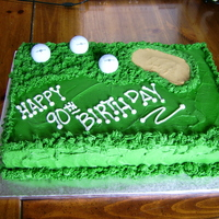 Golf Course Cake Birthday cake for a 90 year old golfer!