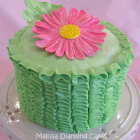 "Ruffles With Daisy!   6"" cake with buttercream frosting and gum paste flower"