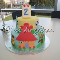 Blue's Clues Birthday A Blue's Clues inspired cake made for my cousin's second birthday. The tiers measure 6 and 10 inches, and are decorated with...
