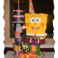 Extreme Spongebob This is a cake that I did for a local cake competition. The theme was extreme children's birthday cakes....I won best of show.
