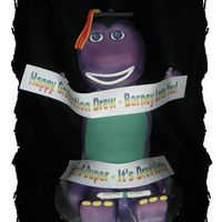 Graduation Barney This was for a graduation party that happened to fall on his 21st birthday. His mom wanted to give him his favorite character from when he...