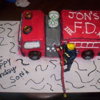 Firetruck Cake I got the idea for this cake after seeing this one in the galleries. Thank you so much for the gteat idea and my 3 yr. old loved it. April...