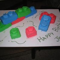 Lego Cake My son loves legos so for his birthday I made him this lego cake.