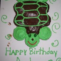Turtle Cupcake Cake This was for my nephews 2nd birthday.