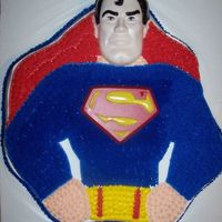 Superman   My first paid job, made last year for the son of one of my husband's co-workers.