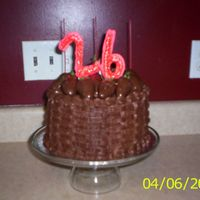 Chocolate Birthday Cake  This is my first attempt at basketweave - I was pleased with the way it came out. It was a chocolate cake with strawberry filling and...