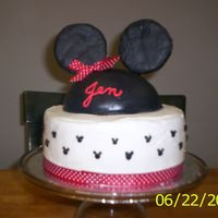 Minnie Mouse Bon Voyage  I made this cake for a co-worker who is moving to Orlando - her DH got a job at Disney World. Everything is edible except the ears and...