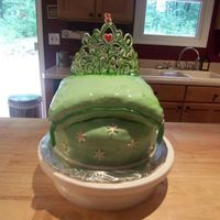 Princess Cake  Birthday cake for a friend. The pillow cake looks wet because I put the fondant on the cake while it was still a little frozen. Didn't...