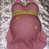Belly Cake  Final cake from the tutorial I created and posted here. Tutorial link: http://babycakescakedecorating.com/Documents/How%20to%20Make%20a%...