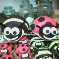 Lady Bugs And Bummble Bees's 2   1 large lady bug and 1 large bummble bee with mini individual ones