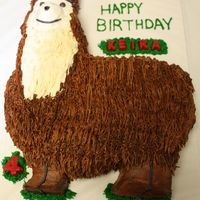Llama Cake This cake was for a friend's llama petting zoo birthday party. It's chocolate with chocolate mousse filling and buttercream icing...