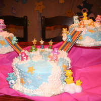 Care Bears   Care Bears cake for my daughter's 5th birthday