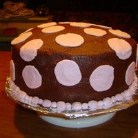 Camille's First Birthday Polka Dots  This was for my daughter's first birthday; we used a pink and brown polka dot theme threoughtout. Cake is 2 12 inch layers. Icing is...