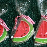 Ants On Your Watermelon?  These were for a picnic theme birthday for a little boy. I couldn't help but include ants with the order.. What goes better with a...