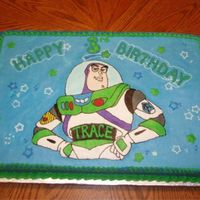 Buzz Lightyear This is my first attempt at FBCT. Thanks to all the great pictures and advise here at cakecentral, I feel it came out great! I'm so...