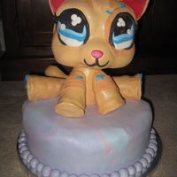 Littlest Pet Shop Kitty Replica of my daughter's favorite Pet shop toy for her 6th Birthday