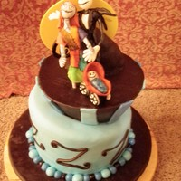 Nightmare Before Christmas Baby Shower Cake Perfect cake for the couple of honor.