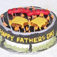 Father's Day Barbeque Cake