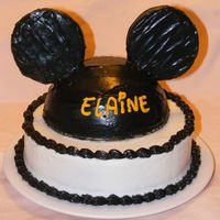 Mickey Ears Cake   Inspired by Love2Create's cake. Chocolate cake and buttercream frosting.