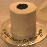 Toilet Paper Cake   Inspired by many of the cakes on CC. Devil's Food and Golden Yellow cake with buttercream frosting.