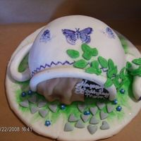 A Tea Pot For My Sister. This one I help my niece do. It is her first fondant cake.