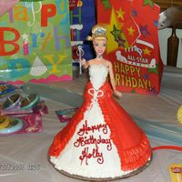 My Granddaughters 3Rd Birthday Cake Real Barbie Cinderella inside.