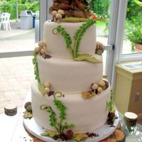 Forest Loved doing this cake all accents are fondant the groom made a cake stand and it was perfect with this cake style.