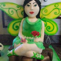 Japanese Fairy Cake This sculpted cake is totally edible. It was a huge challenge and I learned a lot. I put the wings on the wrong side so the airbrushing is...