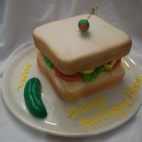 Turkey Sandwich I created this cake for a girl who did like the subway commercials and eats her turkey sandwiches every single day...koodos to her because...