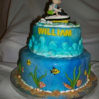 Jet Ski Ocean Theme Cake This cake was created for a little boy who was coming down to spend the time with his family and enjoy the ocean on their jet ski's.