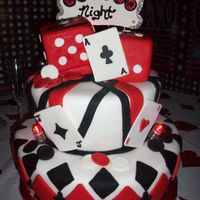 Casino Night I made this cake for a 20th Anniversary. The party was centered around the Casino Theme. The cake was based on design provided by the...
