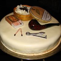 Birthday Cake For My Friend - Pipemaker  Risc label: Some smokers are dying early. BUT SOME STAY ALIVE UNTIL 42! :-)All parts of this cake are edible, built from combination of...