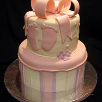 Baby's Feet This cake was created for a baby shower. The idea was taken from a cake by Sharon's Sugarshack. Thank you Sharon! The cake is covered...