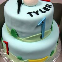 Tyler's Cake This is similar to another cake I made but I added a few more details to this cake like water hazards and sand traps. It is a Wilton...