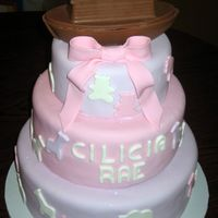 Girl's Noah's Arc Cake This was a baby shower cake where the mother-to-be was using Noah's Arc as her theme but wanted the cake to be girly.The arc was make...