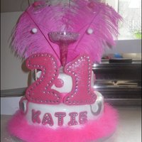21St Pink Birthday Cake hot pink 21st birthday cake