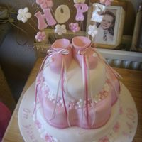 Hope's Christening Cake cristening cake i made for my friend's wee girl hope