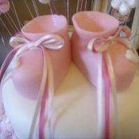 Handcrafted Booties booties i made fo the christening cake