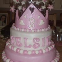 Birthday Cake For Kelsie this is another variation i made of this cake for my friends wee girl the crown is different from the first one i made