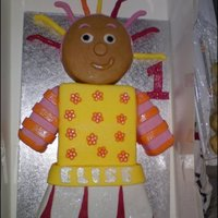 Upsie Daisy Cake first attemp at a character cake turned out quite well i think