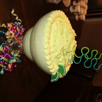 Another Margarita Cake White cake with white chocolate Key Lime filling covered in Key Lime buttercream icing