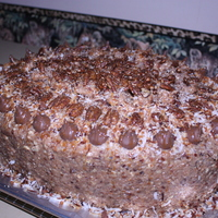 Massive German Chocolate Cake extra large german chocolate cake with roasted pecans and toasted coconut in a traditional base with caramel drizzles and praline pecan...