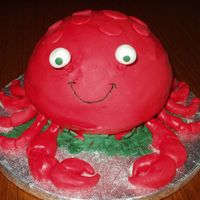 Crab I used my ball pan and covered it with bc as a base layer and mmf on top. I used a colouring picture I found as my inspiration. The seaweed...