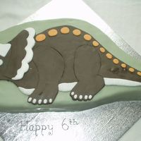 Triceratops  Nothing went right first time with this cake but I am quite happy with the outcome. I made a 10 inch cherry madeira and shaped it to the...